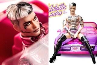 """Achille Lauro diventa una bambola in tacchi e shorts rosa: la provocazione per il lancio di """"1990"""""""
