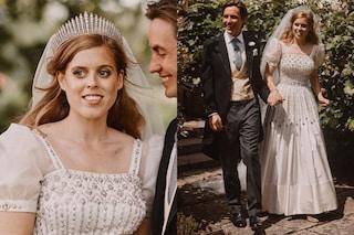 Beatrice di York, il Royal Wedding segreto è vintage: l'abito bianco e la tiara sono della regina