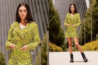 Cecilia Rodriguez, addio sandali: l'estate 2020 è in anfibi e abito leopardato (a maniche lunghe)