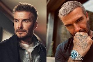 David Beckham con i capelli biondi, il cambio look dopo il lockdown è drastico