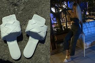 Ilary Blasi in vacanza a Capri: il look estivo con le 'ciabatte di lusso' da quasi mille euro