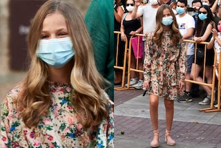 Leonor di Spagna imita mamma Letizia: con espadrillas e abito low-cost è icona di stile