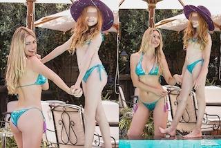 Martina Stella mamma trendy, per l'estate segue il trend dei bikini mini-me con la figlia Ginevra