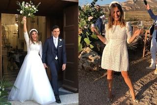 Sarah Balivo si è sposata: la sorella di Caterina rinuncia al velo e indossa il cerchietto