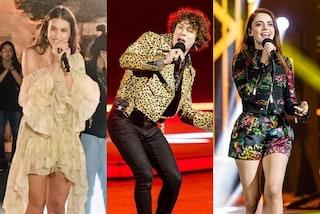 Battiti Live 2020, i look della quarta puntata: Gaia con l'abito di lusso, Irama in giacca animalier