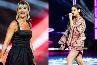 Alessandra Amoroso in nero, Elodie con la mini, Gaia in boxer: i look di Battiti Live