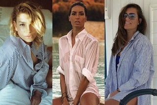 Dalla Gregoraci a Emma, tutte con la camicia da uomo: è il capo più trendy (e sexy) di fine estate