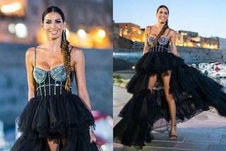 Elisabetta Gregoraci, la finale di Battiti Live è in versione principessa ma in nero