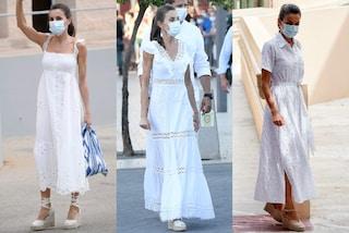 Letizia di Spagna regina del total white: i suoi abiti candidi sono perfetti per l'estate