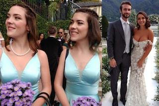 I fratelli di Elettra Lamborghini al matrimonio: le damigelle in verde e Ferruccio con il tight
