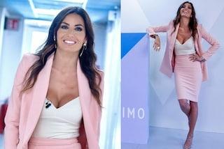 Elisabetta Gregoraci a Verissimo: prima del GF Vip splende in rosa e con gli orecchini di lusso