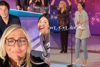 Alessandra Mastronardi a Domenica In: presenta L'Allieva con la giacca over e i jeans