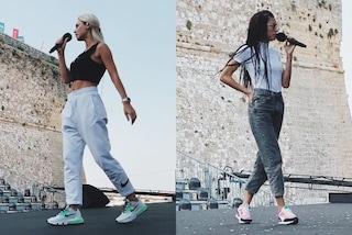 Battiti Live, da Elodie alla Tatangelo: sul palco con i tacchi ma alle prove indossano le sneakers