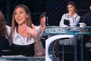 Belén Rodriguez a Tu Sì Que Vales, puntata 7 col top sulla camicia: solo la minigonna costa 450 euro