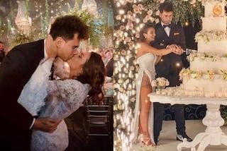 I tre abiti da sposa di Elettra Lamborghini: il prezzo e chi ha firmato i vestiti per il matrimonio