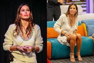 Elisabetta Gregoraci al GF Vip 2020 col doppio look: solo il completo panna costa quasi 4mila euro