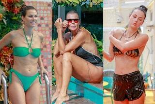GF Vip 2020, tutte in bikini nella casa: Dayane indossa il mini due pezzi, Adua col pantaloncino