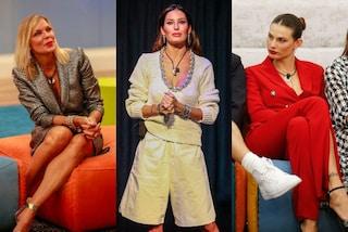 GF Vip 2020, i look della terza puntata: la Gregoraci in maxi bermuda, Matilde con l'abito giacca