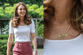 Kate Middleton, la collana nasconde un dettaglio dolcissimo: è una dedica per i suoi figli