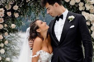 Elettra Lamborghini sposa sexy: per il matrimonio abito a sirena trasparente