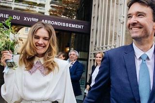 Natalia Vodianova sposa anni '80: il vestito per le nozze a sorpresa con Antoine Arnault