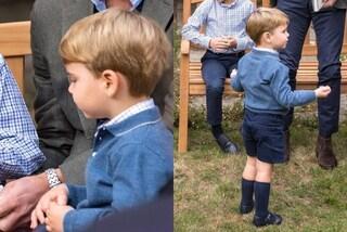 Louis indossa il vecchio maglione del principe George: Kate vuole trasmettergli la mania del riciclo