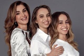 Rania di Giordania festeggia le figlie sui social: Iman e Salma le somigliano in modo impressionante