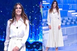Silvia Toffanin torna con Verissimo: la prima puntata è in scamiciata bianca e con i capelli mossi