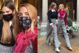 Stella Bossari e Filippa Lagerback in coordinato alle sfilate: seguono il trend del completo mannish