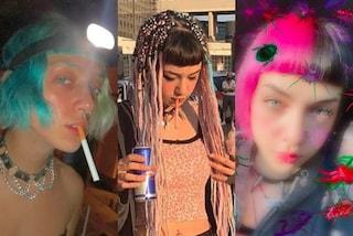 Anna Lou Castoldi, dalle treccine al caschetto bicolor: i mille capelli della figlia di Asia Argento