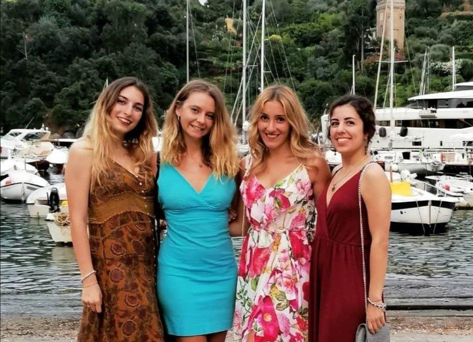 Mariachiara Cataldo, Francesca Penotti, Giulia Chinigò e Francesca Sapey