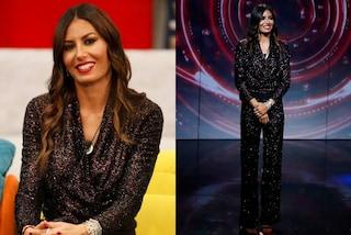 GF Vip 2020, Elisabetta Gregoraci osa in paillettes: nella puntata 11 indossa tuta e tacchi a spillo