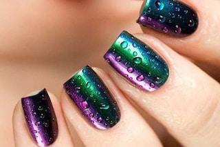 Raindrop Nails, la manicure autunnale ma colorata ispirata alla pioggia