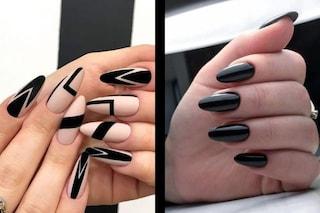 Smalto nero, il colore must have per la manicure dell'autunno 2020