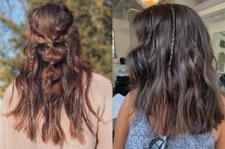 Trecce accent braids, l'acconciatura semplice e glamour per i capelli dell'autunno 2020