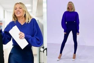 Alessia Marcuzzi torna a Le Iene: la sua seconda puntata è in leggings e maglione over