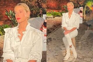 Alessia Marcuzzi in bianco nella terza puntata di Temptation island: i look valgono oltre 3mila euro