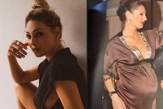 Anna Tatangelo ricorda la gravidanza: la foto col pancione (e le sopracciglia sottili) è dolcissima
