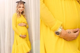 Chiara Ferragni, il primo look premaman è giallo e di lusso: solo l'orologio vale quasi 40mila euro
