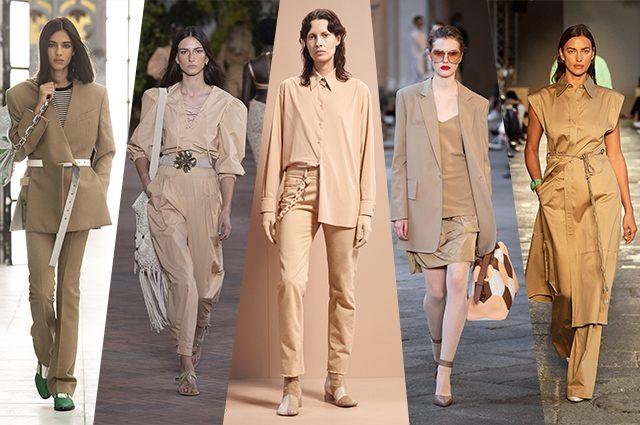 da sinistra Louis Vuitton, Alberta Ferretti, MM6 Maison Margiela, Max Mara, BOSS