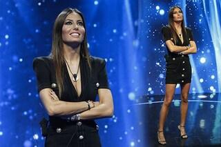 GF Vip 2020, decima puntata: Elisabetta Gregoraci punta sul nero con l'abito da 1400 euro