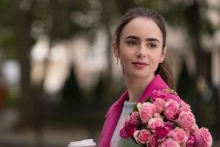Emily in Paris, il trucco per avere le sopracciglia folte e marcate di Lily Collins