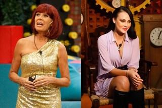 GF Vip 2020, i look della puntata 9: Maria Teresa Ruta con la parrucca, Adua Del Vesco in lilla