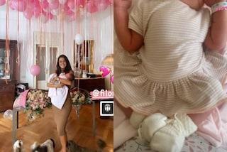 Giorgia Palmas torna a casa con Mia: mamma e figlia in coordinato per la festa di benvenuto