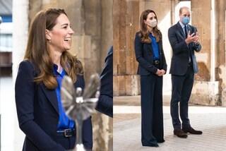Kate Middleton rivoluzionaria: segue la moda del completo mannish ma va contro il protocollo