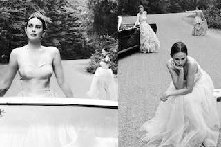 Demi Moore posa con Rumer e Scout Willis: mamma e figlie in versione principesse sembrano sorelle