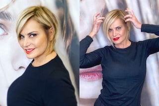 Simona Ventura cambia look: il nuovo taglio di capelli è un bob corto e asimmetrico