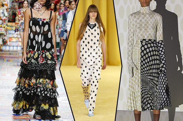 da sinistra Dolce&Gabbana, Prada, MM6 Maison Margiela