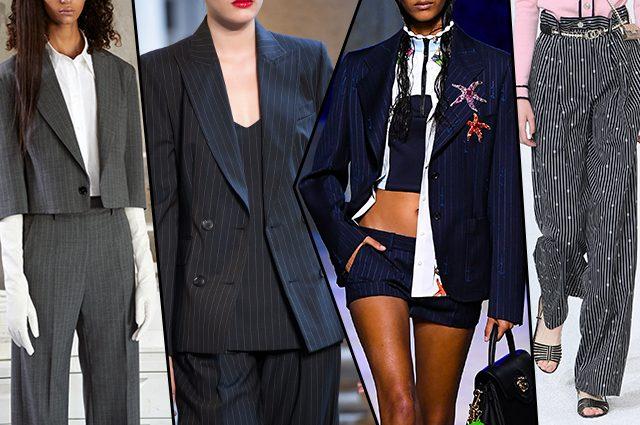 da sinistra MM6 Maison Margiela, Max Mara, Versace, Chanel
