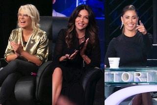 Tu Sì Que Vales, Belén e Sabrina in nero, la De Filippi scintillante: è sfida di stile sul palco